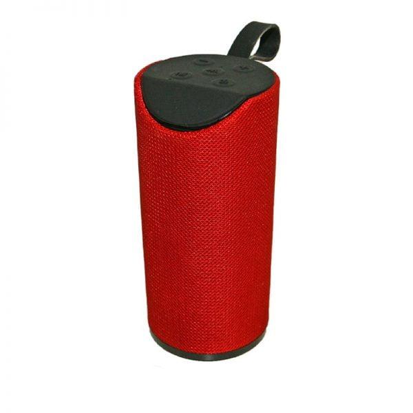 parlante bluetooth rojo
